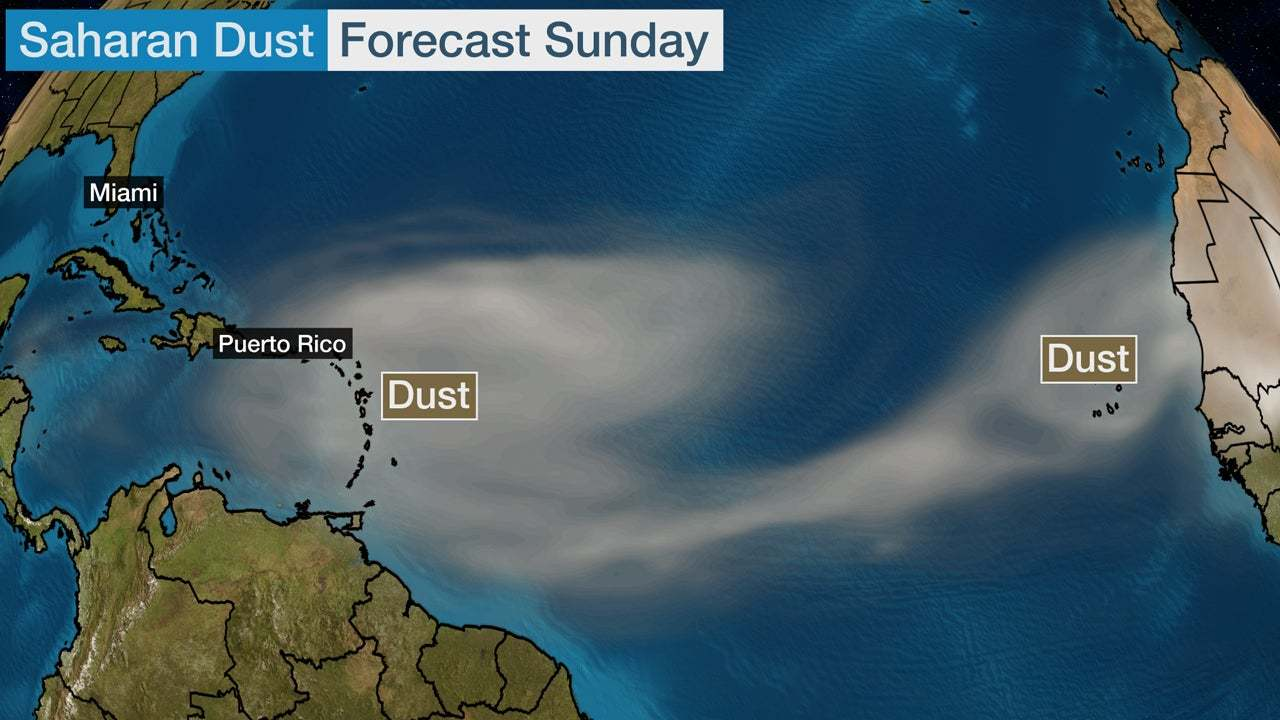 Saharan Dust Could Spread to Caribbean, Gulf of Mexico and U.S. Into Next Week | The Weather Channel 3