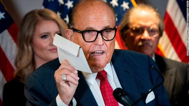 Rudy Giuliani voted with an affidavit ballot, which he bashed in failed efforts to overthrow election results - CNNPolitics 1