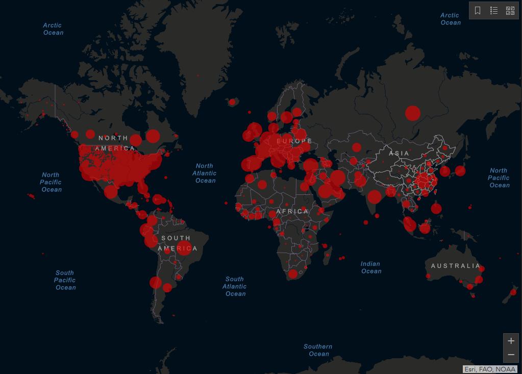 May 6, 2020 COVID-19 pandemic map