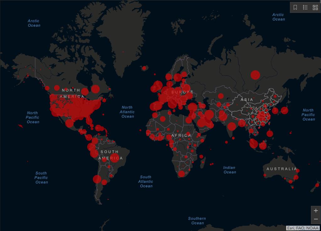 May 14, 2020 COVID-19 pandemic map