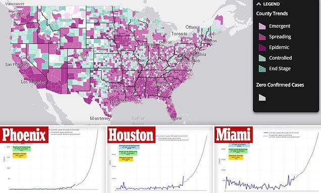 Data shows 23% of US counties are seeing uncontrollable COVID growth | Daily Mail Online 1