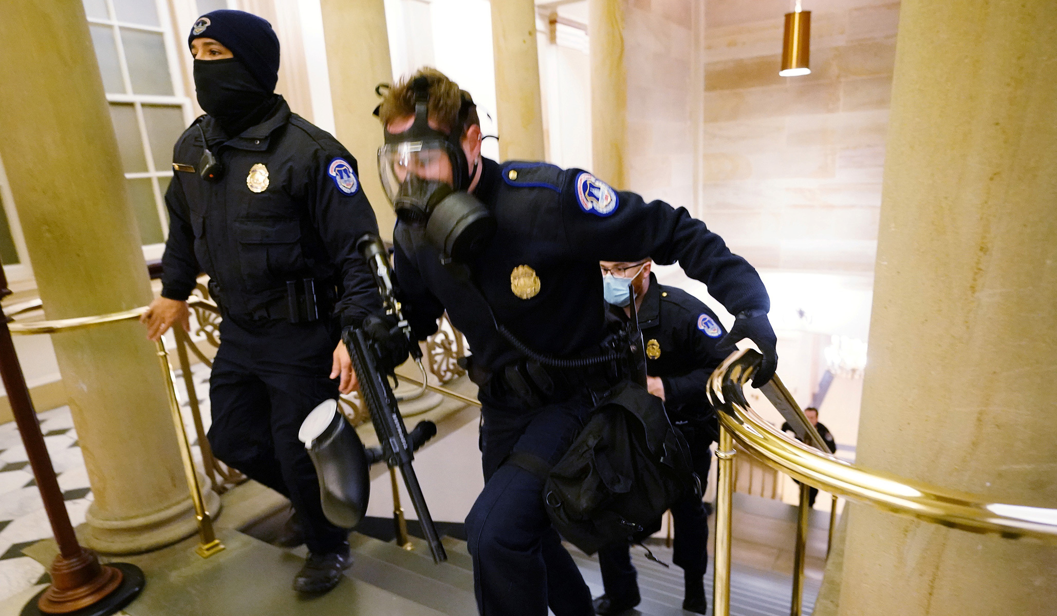 Hill Staffers Evacuate as Trump Supporters Clash with Police outside Capitol Building | National Review 1